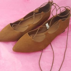 Mossimo lace up flats
